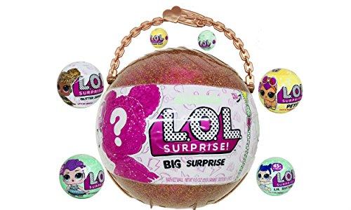 L.O.L. Surprise Bundle (1) LOL Big Surprise (1) Glitter Series (1) Let's Be Friends Series 2, (1) Lil Sister Series 2, (1) Charm Fizz Series 2, (1) LOL Pets Series 3 (1) Charm Fizz Series 3 Btb Series