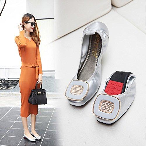 Tacco Fondo Camminata HUAN da Piatto per Microfibra da Scarpe Un Estate Donna Casual comodità Abbigliamento in Morbido Scarpe pnFvpq71