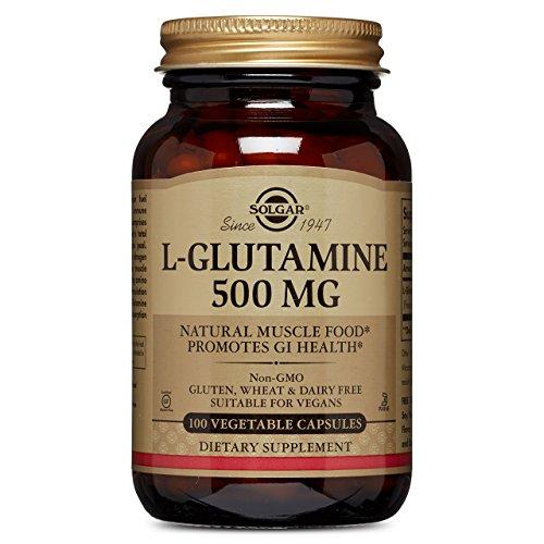 Solgar – L-Glutamine 500 mg, 100 Vegetable Capsules