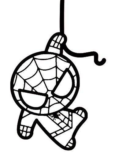 Amazon Com Marvel Avengers Chibi Spider Man Black 6 Inch Die Cut