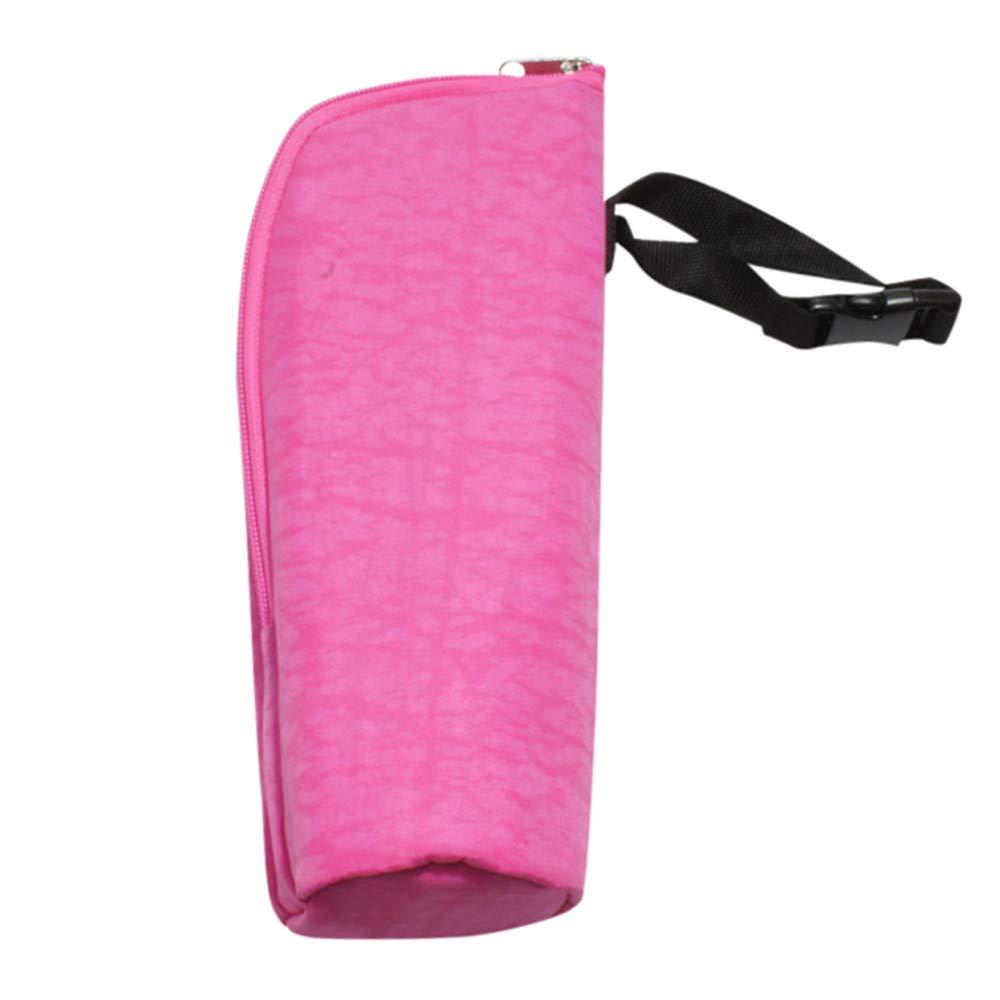 2019 Lunch Bag for Adults Men Women, Baby Milk Bottle Insulation Bag Feeding Bottle Warmer Thermal Cooler Cover Hang Hot Pink