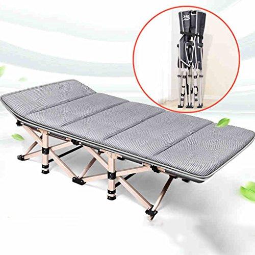 Hamacas y Camastros Cama plegable cama individual adulto adulto cama siesta reclinable oficina simple cama plegable cama de...