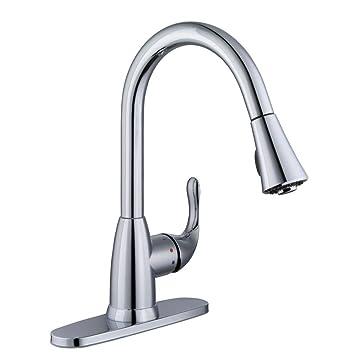 Glacier Bay Market Single Handle Pull Down Sprayer Kitchen Faucet In
