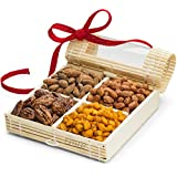 Simply Crave Nut Gifts Holiday, Holiday Gift Tray, Gourmet Food Gift, Nuts Tray Gift Assortment, Holiday (Small), 1 Count