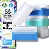 Minimize Cradle Cap, Dry/Scaly Skin Best for Newborn & Toddler Sensitive Skin on Head, Face,Hair, Body. Gentle Ultra Soft Bristles. Sunny's Scalp Scrub & Relax 5-Pack Nontoxic Baby Sponge Bath Scrub