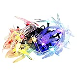 String Light, BOYON Solar Fairy, Dragonfly Garden Lights Best for Outdoor, Patio, Party (2 Lighting Modes, 16.4ft, 20 Led, Colorful)