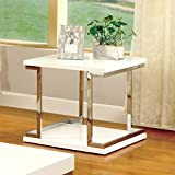 Furniture of America Adina Modern End Table, White