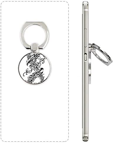 Soporte para anillo de teléfono móvil con diseño de dos dragones ...