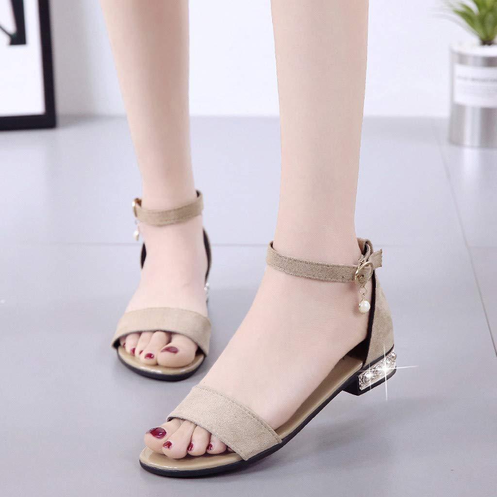 Sandalias Mujer Verano 2019 Sandalias De Verano JORICH Zapatos De Planos Roma Sandalias De Cu/ña Sandalias De Mujer con Punta Abierta Y Transpirables Zapatos Planos