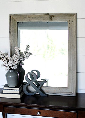 Rustic Mirror - Lighthouse Style Barnwood with Raised Outer Edge