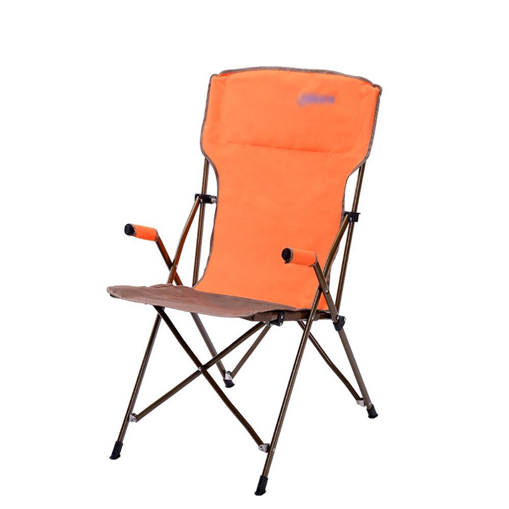 限定価格セール! WSSF- B07DGV17PZ WSSF- ヘビーデューティスチールキャンプチェア超軽量折りたたみレイジーラウンジチェアダイニングチェア屋外ビーチ釣りピクニックチェア - Orange ベアリング100kg Orange B07DGV17PZ, エコインク:2654faa3 --- cliente.opweb0005.servidorwebfacil.com