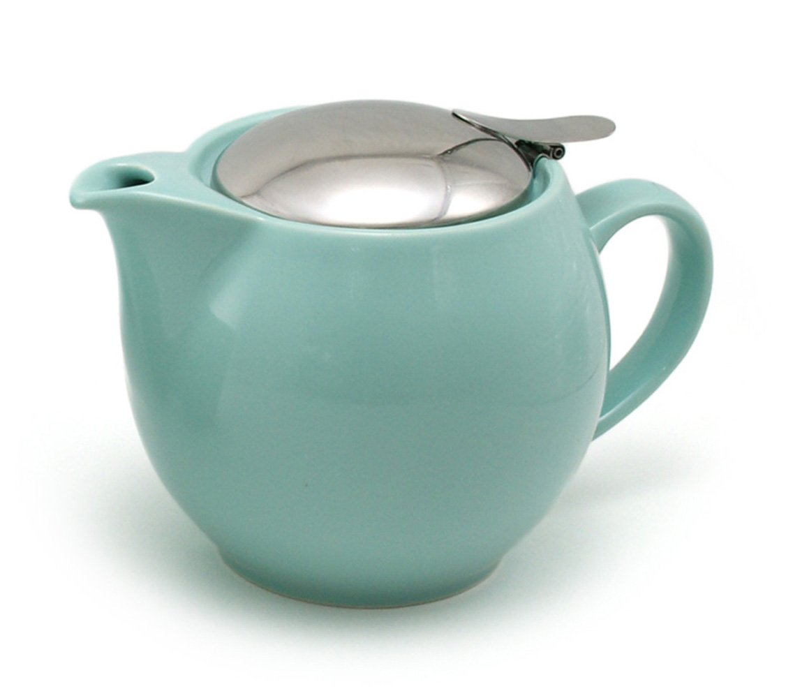 ZEROJAPAN 15oz Round Teapot with SLS Lid and Infuser (aqua mist)