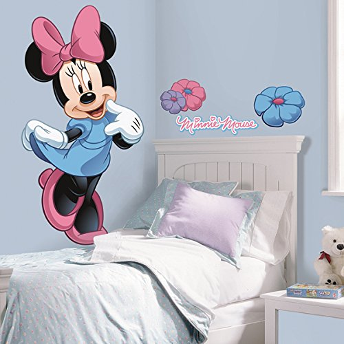 RoomMates Minnie Mouse Peel and Stick Giant Wall Decal