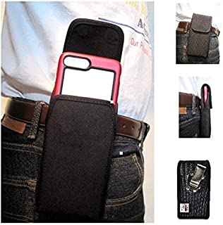 product image for Google Pixel 3 XL Nylon Vertical Heavy Duty, Rugged Holster Pouch with Rotating Belt Clip Fit Slim-Fit Case- Turtleback