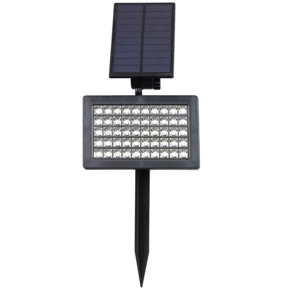 Faretto solare a LED, IP44 impermeabile regolabile Faretto solare paesaggio esterno, Giardino On Off automatico, Cortile, Prato inglese, Parete esterna e accesso (luce calda)
