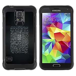 LASTONE PHONE CASE / Suave Silicona Caso Carcasa de Caucho Funda para Samsung Galaxy S5 SM-G900 / abstract blackboard life advice inspiring