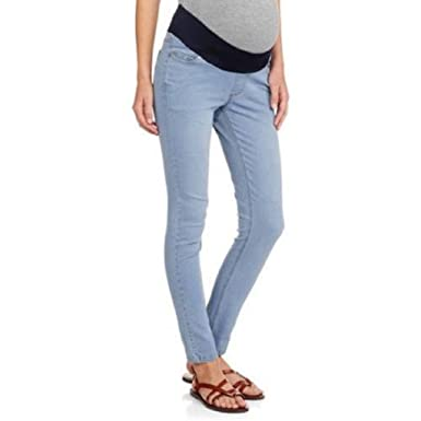 2c460e818e2cd Image Unavailable. Image not available for. Color: Oh! Mamma Demi-Panel  Super Soft Skinny Maternity Jeans ...