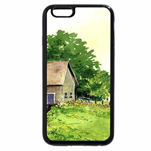 iPhone 6S / iPhone 6 Case (Black) Rural Village 2
