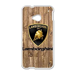 Printed Cover Protector HTC One M7 Cell Phone Case White Lamborghini Wxkaz Unique Design Cases