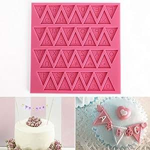 Cle de tous molde silicona para tarta pastel cenefas fondant con forma letras alemanes a z - Moldes silicona amazon ...