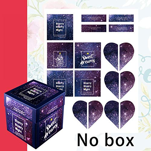 WUQIAN Tetrahedron Explosion Box Stickers Theme Sticker ...