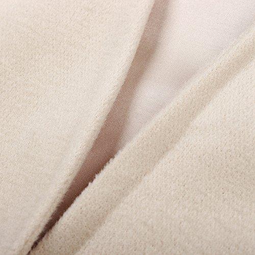Manteau Hiver Laine S Ouvert Drap L Bonboho XL Femme Chaud de Abricot M Trench Veste Automne Twv0x5Pxgq