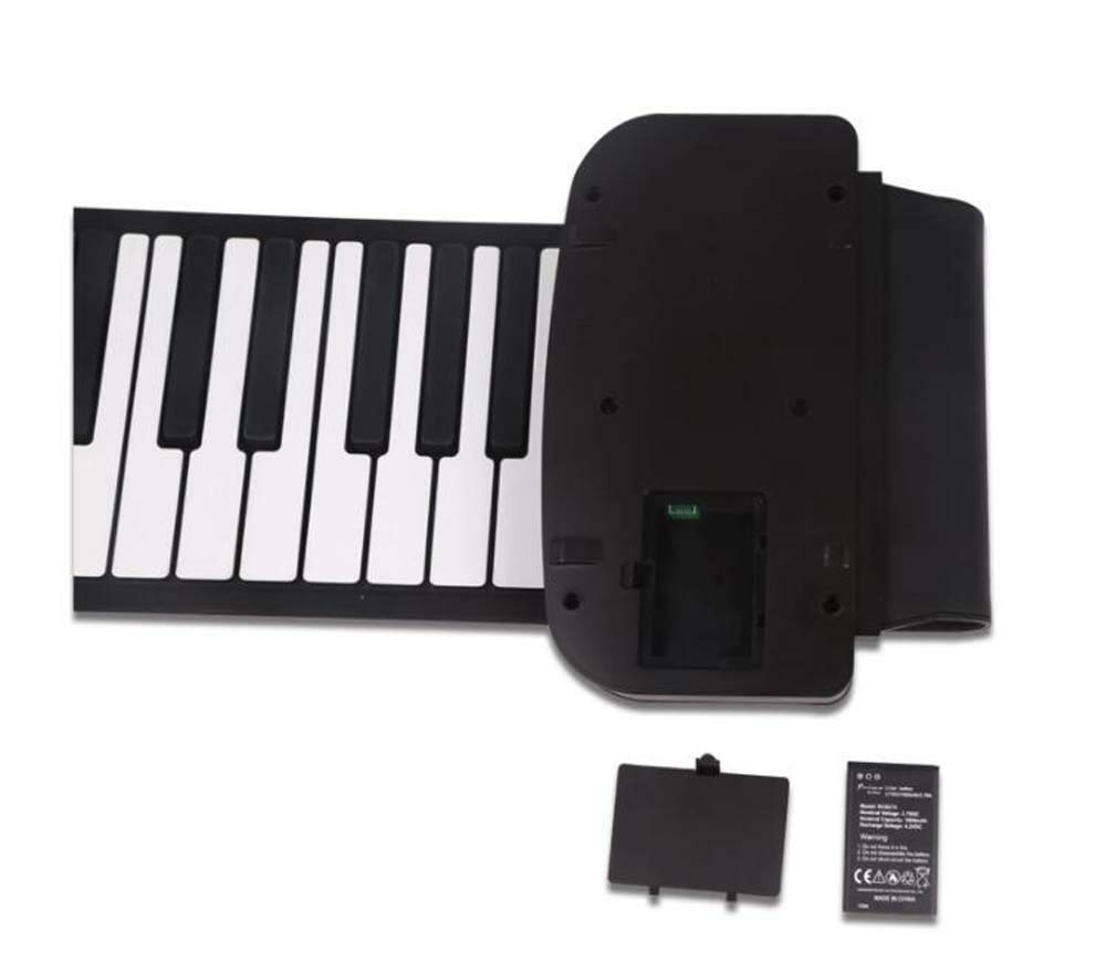 CE-LXYYD 61-Key Portable Piano with Voice-Over, Collapsible Silicone Electronic Hand roll Piano, dustproof and Waterproof, Easy to Clean, Easy to Carry, Easy to Maintain, The Best by CE-LXYYD (Image #2)