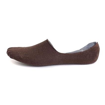 LUFA Calcetines escotados de silicona antideslizantes calcetines invisibles sólido hombres de color calcetines cortos