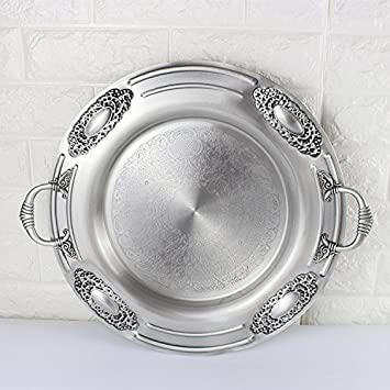 LXCC Europeum Hotel Buffet Dinner Plate Fruit Tray Silver Metal Stainless Steel Tray 48.5  sc 1 st  Amazon.com & Amazon.com | LXCC Europeum Hotel Buffet Dinner Plate Fruit Tray ...