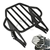TCMT Motorcycles Black Backrest Detachable Adjustable Two Up Tour Pak Luggage Rack Mounting For Harley Touring Electra Glide Road King Street 2009 2010 2011 2012 2013 2014 2015 2016 2017 2018