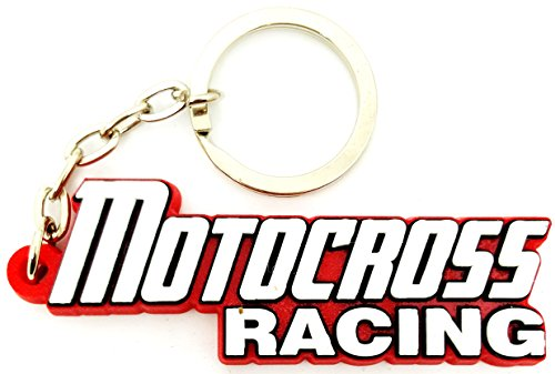 MOTOCROSS RACING Motorcycle Emblem Logo Sign Keyring Keychian Key Ring Chain Rubber Silicone by BEST EXPO