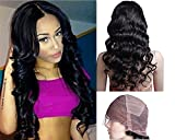 Mike & Mary Full Lace Wigs Indian Remy Human Hair Body Wave For Black Women (14inch #2)