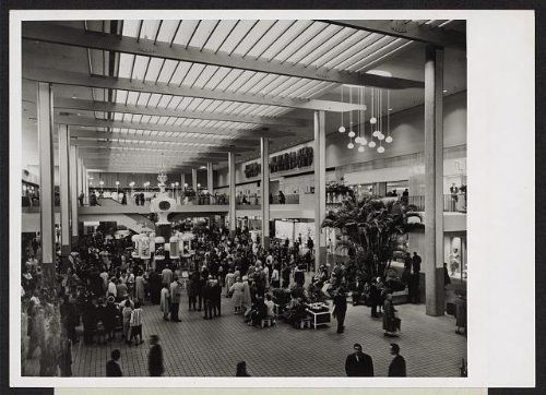 Photo: Midtown Plaza,shopping center,urban renewal,Rochester,New York,NY,1963 - Shopping Rochester York New