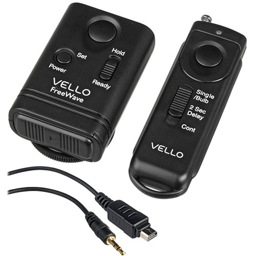 Vello FreeWave Wireless Remote Shutter Release for Nikon and Olympus - Shutter Electronic Kit Release