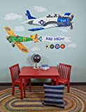 Oopsy daisy Airplanes Peel and Place Childrens Wall Decals by Jill Pabich, 54 by 60-Inch