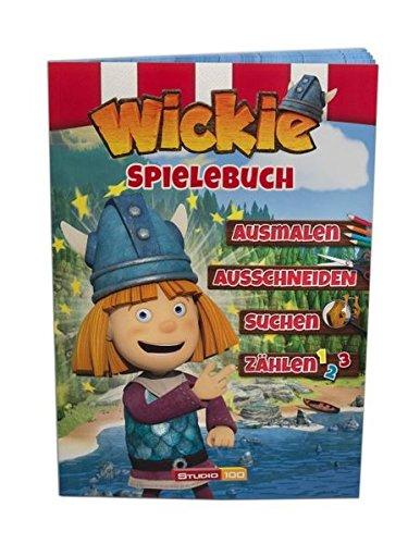 Wickie und die starken Männer Spielebuch: Ausschneiden , Ausmalen, Suchen, Zählen, Farbe (Activitybuch mit Stickern)