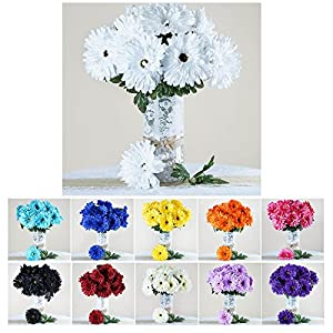 Efavormart 28 Artificial Gerbera Daisy Wedding Party Events Decor Flowers Bushes- 10 Colors 103