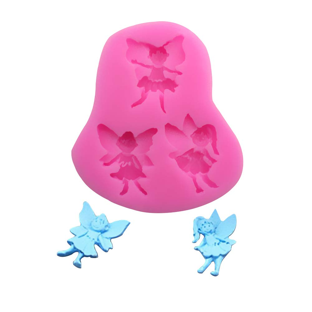 Outflower Cute Angel DIY Fondant Silicone Cake Mold Nonstick Cupcake Cookie Chocolate Moulds Pink