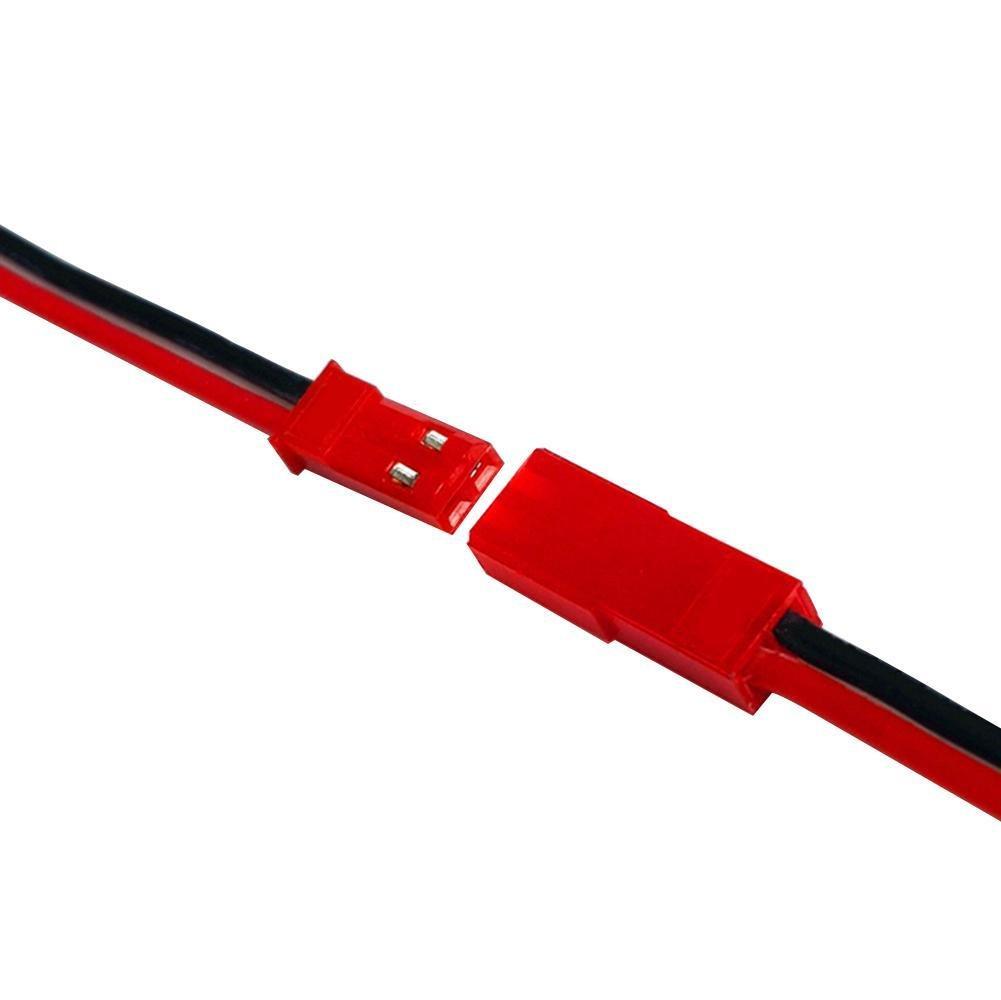20 Sets Plug JST Lead socket Connector,Cool Ring Plug JST Lead socket Connector Cable Wire Line 11cm