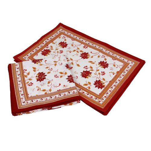 Cotton-Red-Placemats-and-Napkins-Set-of-8-Spring-Home-Decor-Indian