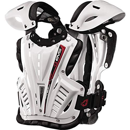 (EVS Sports Men's Revo 4 Roost Diflector White Medium)
