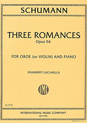 SCHUMANN - Romanzas Op.94 para Oboe y Piano pdf epub
