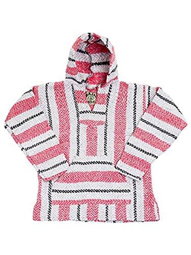 Baja Joe Striped Woven Eco-Friendly Jacket Coat Hoodie (Sherbet, XXL)