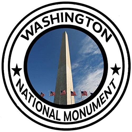"Rogue River Tactical Washington Monument Sticker 5"" Round Car Auto Decal"