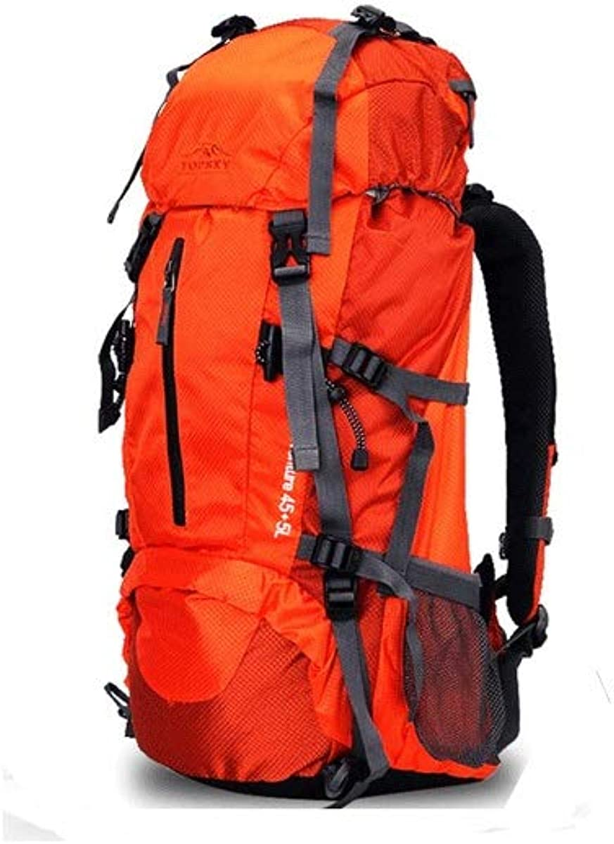 Shoulder Men and Women Bag Multi-Function Large-Capacity Travel Backpack 40 Liters 50L60L Color : Orange -50L A Variety of Colors Available Tongboshi Outdoor Mountaineering Bag