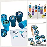 72 OCEAN Life PARTY Favors - 24 INK STAMPERS -24 Bookmarks 24 STICKERS - Seal Clownfish WHALE SHARK Dolphin CLASSROOM Motivation FISH Under the Sea