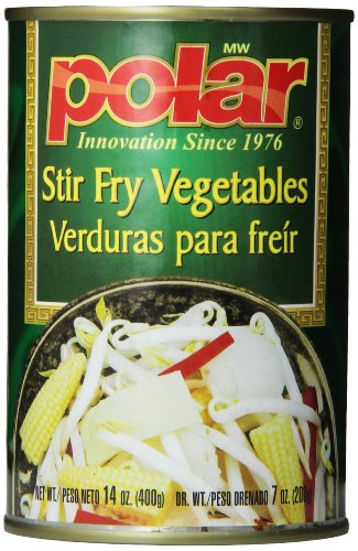 MW Polar Canned Vegetables, Stir Fry Vegetables, 14 Ounce (Pack of 12) (Vegetable Fry Stir)