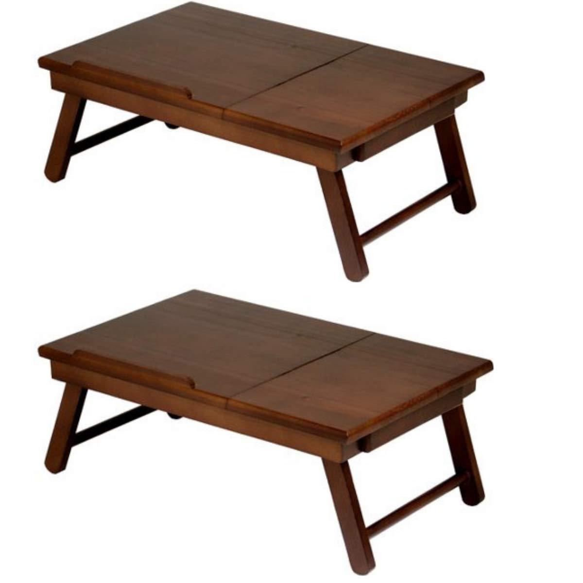 Winsome Wood 94623 Alden Bed Tray, Walnut (Walnut, 2-Pack)