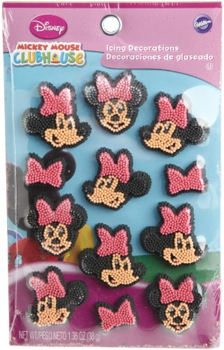 Wilton Disney Mickey Mouse Clubhouse Minnie Icing Decorations, 12 Count -