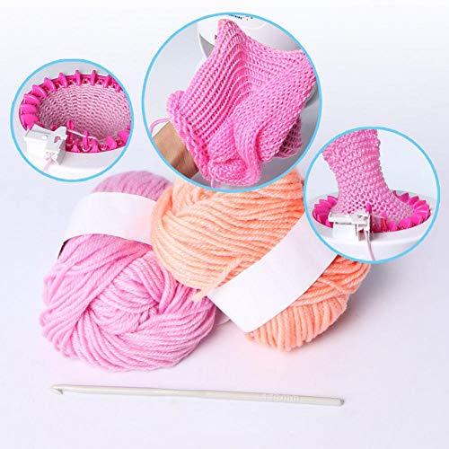 istary Niños manual automática webstuhl Juego de punto Agujas DIY - Sombrero arco iris innovadora mano tejida Máquina Juguete para bebé lana de tejer: ...